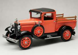 Ford  - Model A pick-up 1931 orange-red - 1:18 - SunStar - 6116 - sun6116 | The Diecast Company