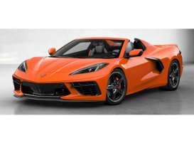Chevrolet  - Corvette 2020 orange - 1:18 - GT Spirit - 309 - GT309 | The Diecast Company