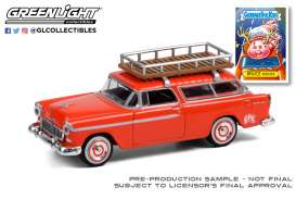 Chevrolet  - Nomad 1955 red - 1:64 - GreenLight - 54050A - gl54050A | The Diecast Company