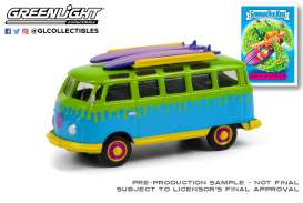 Volkswagen  - Samba bus 1964 green/blue/yellow - 1:64 - GreenLight - 54050B - gl54050B | The Diecast Company