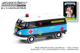 Volkswagen  - Panel Van 1965 black/blue - 1:64 - GreenLight - 54050C - gl54050C | The Diecast Company