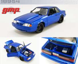 Ford Mustang - 5.0 LX 1990 blue - 1:18 - GMP - 18954 - gmp18954 | The Diecast Company