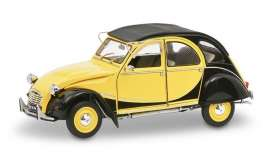 Citroen  - 2CV6 black/yellow - 1:18 - Solido - 1805015 - soli1805015 | The Diecast Company