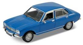 Peugeot  - 504 1975 blue - 1:34 - Welly - 42394 - welly42394b | The Diecast Company