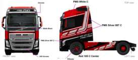 Volvo  - FH 16 red/black/silver - 1:50 - Bburago - 32200-1 - bura32200-1 | The Diecast Company