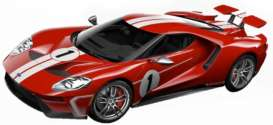Ford  - GT red/white - 1:32 - Bburago - 41163 - bura41163 | The Diecast Company