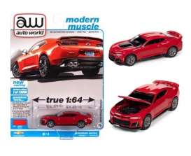 Chevrolet  - Camaro ZL1 2018 red hot - 1:64 - Auto World - SP059B - AWSP059B | The Diecast Company