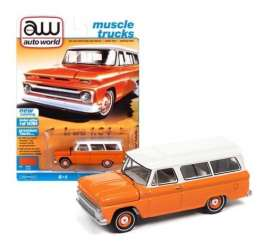Chevrolet  - Suburan 1965 orange - 1:64 - Auto World - SP060B - AWSP060B | The Diecast Company