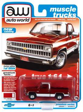 Chevrolet  - Silverado 1981 red - 1:64 - Auto World - SP062A - AWSP062A | The Diecast Company