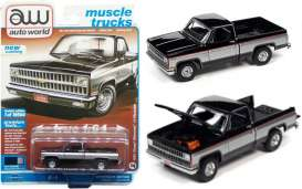 Chevrolet  - Silverado 1981 black - 1:64 - Auto World - SP062B - AWSP062B | The Diecast Company