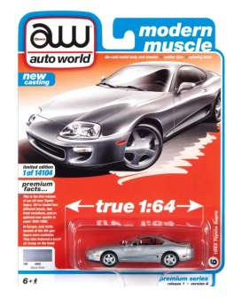 Toyota  - Supra 1993 silver - 1:64 - Auto World - SP064A - AWSP064A | The Diecast Company