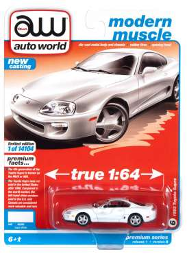 Toyota  - Supra 1993 white - 1:64 - Auto World - SP064B - AWSP064B | The Diecast Company