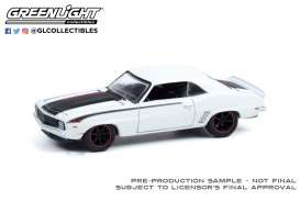 Chevrolet  - Camaro 1969 white - 1:64 - GreenLight - 39070A - gl39070A | The Diecast Company