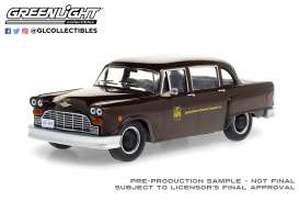 Checker  - Taxicab 1975 brown - 1:43 - GreenLight - 86196 - gl86196 | The Diecast Company