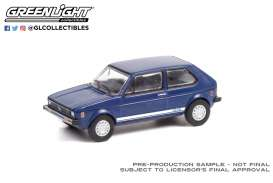 Volkswagen  - Rabbit 1979 blue - 1:64 - GreenLight - 36030C - gl36030C | The Diecast Company