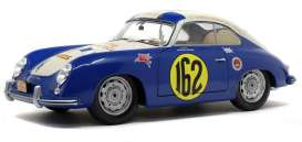 Porsche  - 356A 1953 blue - 1:18 - Solido - 1802803 - soli1802803 | The Diecast Company