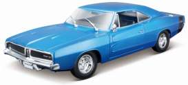 Dodge  - Charger R/T 1969 blue - 1:18 - Maisto - 31387b - mai31387b | The Diecast Company