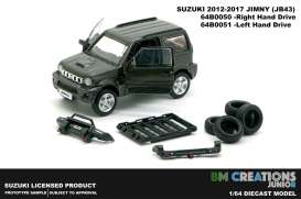 Suzuki  - Jimny JB43 1998 dark grey - 1:64 - BM Creations - 64B0051 - BM64B0051 | The Diecast Company