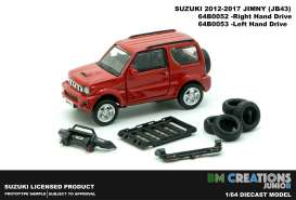 Suzuki  - Jimny JB43 1998 red - 1:64 - BM Creations - 64B0053 - BM64B0053 | The Diecast Company