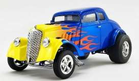 Willys  - Gasser  1933 blue/yellow - 1:18 - Acme Diecast - A1800918 - acme1800918 | The Diecast Company