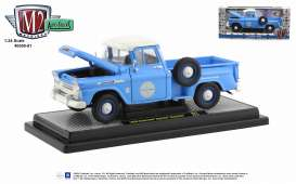 Chevrolet  - Apache 1957 blue - 1:24 - M2 Machines - 40300-81 - M2-40300-81B | The Diecast Company