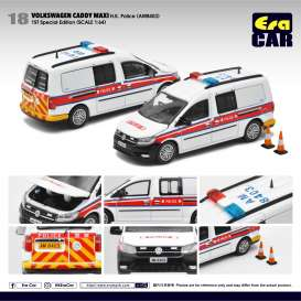 Volkswagen  - Caddy Maxi white/red - 1:64 - Era - VW20CamRF18 - EraVW20CamRF18 | The Diecast Company