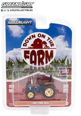 Tractor  - 1987 blue - 1:64 - GreenLight - 48050D - gl48050D | The Diecast Company