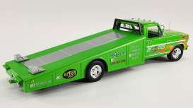 Ford  - F-350 Ramp Truck green/flames - 1:18 - Acme Diecast - 1801414 - acme1801414 | The Diecast Company