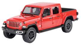 Jeep  - Gladiator Overland hard top 2020 red - 1:27 - Motor Max - 79365 - mmax79365r | The Diecast Company