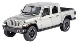 Jeep  - Gladiator Overland hard top 2020 silver - 1:27 - Motor Max - 79365 - mmax79365s | The Diecast Company