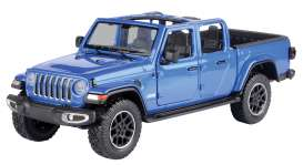 Jeep  - Gladiator Overland open top 2020 blue - 1:27 - Motor Max - 79367 - mmax79367b | The Diecast Company