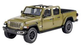 Jeep  - Gladiator Overland open top 2020 khaki - 1:27 - Motor Max - 79367 - mmax79367k | The Diecast Company