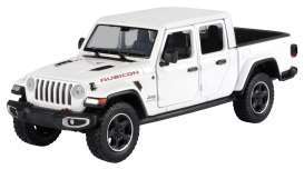 Jeep  - Gladiator Rubicon hard top 2020 white - 1:27 - Motor Max - 79368 - mmax79368w | The Diecast Company