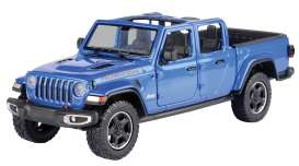 Jeep  - Gladiator Rubicon open top 2020 blue - 1:27 - Motor Max - 79370 - mmax79370b | The Diecast Company