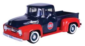 Ford  - F-100 pick-up 1956 dark blue/red - 1:24 - Motor Max - 79647 - mmax79647 | The Diecast Company