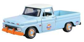 Chevrolet  - C10 Fleetside pick-up 1966 light blue/orange - 1:24 - Motor Max - 79648 - mmax79648 | The Diecast Company
