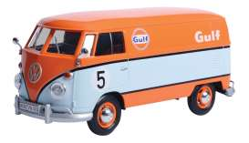 Volkswagen  - type 2 T1 delivery van light blue/orange - 1:24 - Motor Max - 79649 - mmax79649 | The Diecast Company