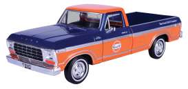 Ford  - F-150 Custom 1979 blue/orange - 1:24 - Motor Max - 79652 - mmax79652 | The Diecast Company