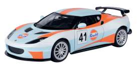 Lotus  - Evora GT4 #41 light blue/orange - 1:24 - Motor Max - 79660 - mmax79660 | The Diecast Company