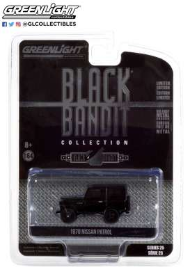 Nissan  - Patrol 1970 black - 1:64 - GreenLight - 28070B - gl28070B | The Diecast Company