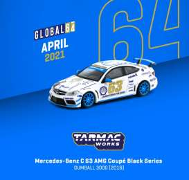 Mercedes Benz  - C63 AMG white/blue - 1:64 - Tarmac - T64G009GB - TC-T64G009GB | The Diecast Company