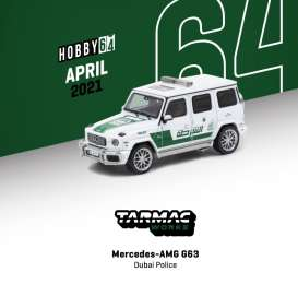 Mercedes Benz  - AMG G63 white/green - 1:64 - Tarmac - T64-040-DU - TC-T64-040DU | The Diecast Company