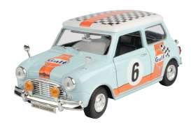 Mini  - Cooper *Gulf Rally #6* light blue/orange - 1:18 - Motor Max - 79743 - mmax79743 | The Diecast Company