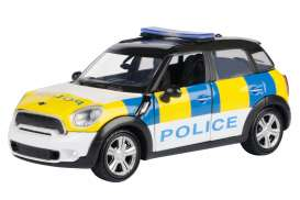 Mini  - Cooper S Countryman white/yellow/blue - 1:24 - Motor Max - 79751 - mmax79751 | The Diecast Company