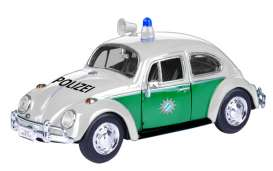 Volkswagen  - Beetle *Polizei* white/green - 1:24 - Motor Max - 79588 - mmax79588 | The Diecast Company