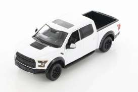 Ford  - F-150 Raptor 2017 white - 1:27 - Motor Max - 79344D - mmax79344w | The Diecast Company