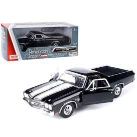 Chevrolet  - 1970 black/white - 1:24 - Motor Max - 79347E - mmax79347bk | The Diecast Company