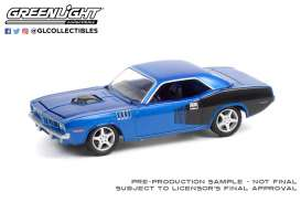 Plymouth  - Barracuda 1971 blue - 1:64 - GreenLight - 37230C - gl37230C | The Diecast Company