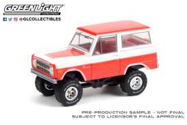 Ford  - Bronco 1977 red/white - 1:64 - GreenLight - 37230D - gl37230D | The Diecast Company