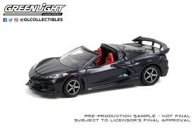 Chevrolet  - Corvette 2020 grey/red - 1:64 - GreenLight - 37230F - gl37230F | The Diecast Company